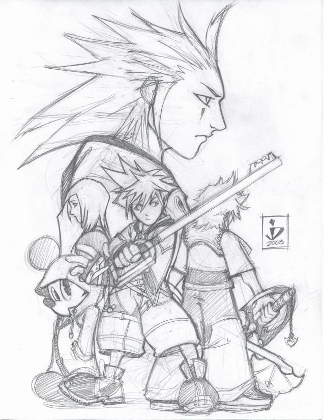 Kingdom Hearts 2 Pencils By