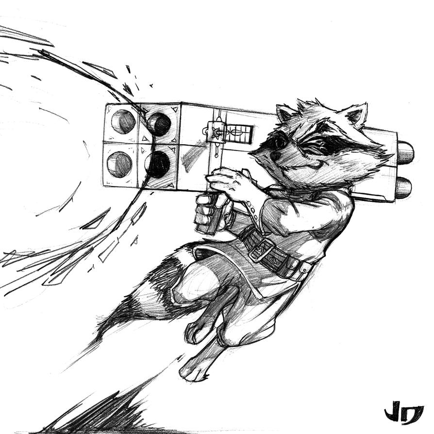 DSC - Rocket Raccoon by arsenalgearxx