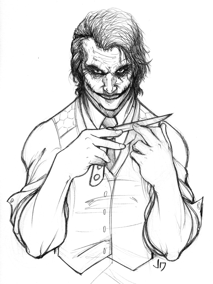 Imgs For > Joker Cartoon Drawings
