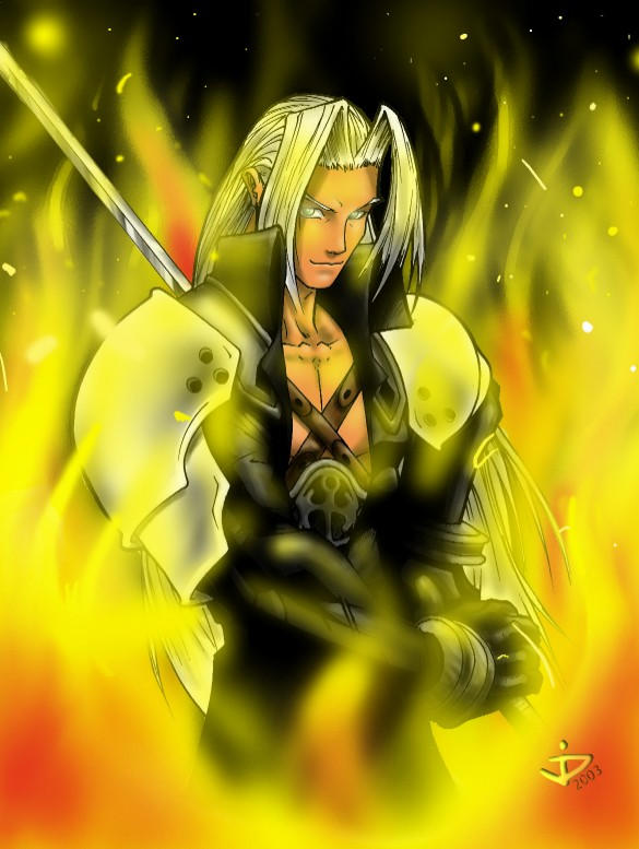 Firestarter Sephiroth by arsenalgearxx