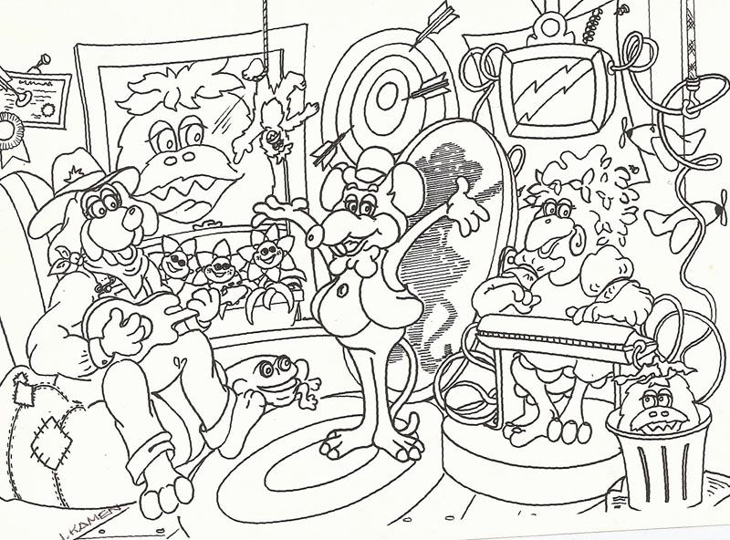 cartoon rockchuck coloring pages - photo#1