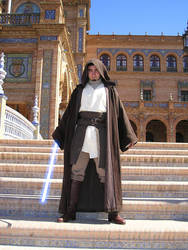 Hooded Gardek Mon in Theed by Gardek