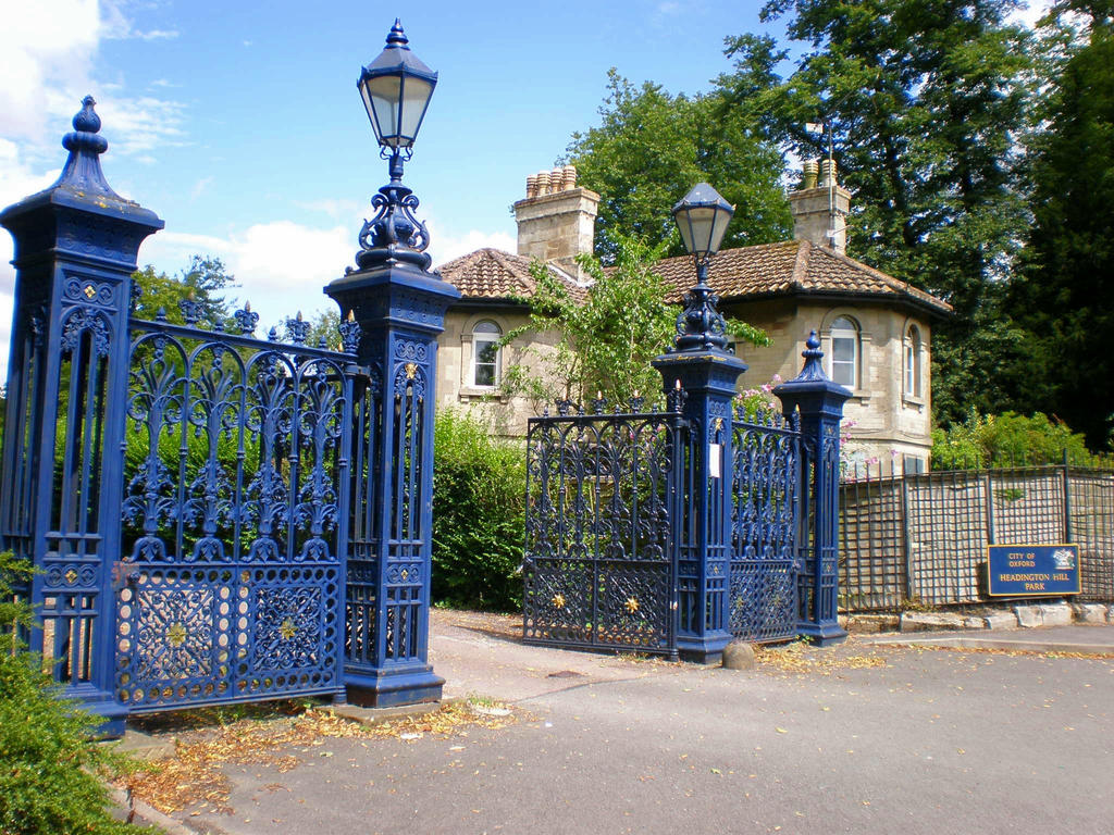 Blue Wrought Iron Gate By