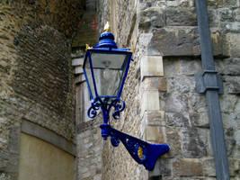 Blue streetlamp by Gardek