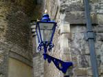 Blue streetlamp
