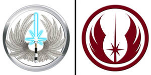 Jedi Order logo comparison by Gardek