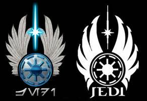 Jedi logo comparison by Gardek