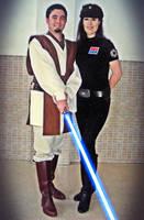 Gardek and Imperial Officer Kymeire by Gardek