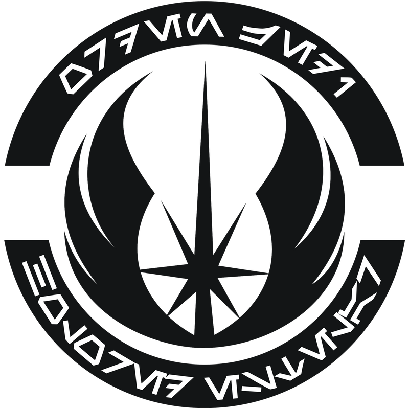 HoloRed Estelar Jedi Order logo - B-W version by Gardek