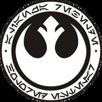 HoloRed Estelar Rebel Alliance logo - B-W version