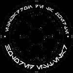 HoloRed Estelar Imperial logo - B-W version