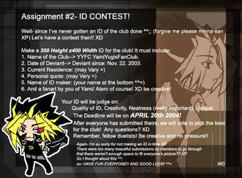 Assignment 02- ID Contest by YamiYugisFanClub