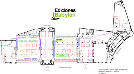 Plano del Salon del comic de Barcelona by ediciones-babylon