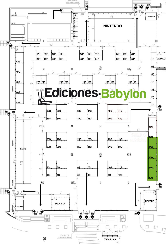 Plano Expomanga Ediciones Babylon by ediciones-babylon