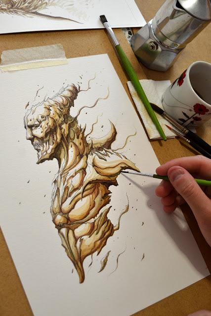 Sorteo dibujo original de Dibujante Nocturno by ediciones-babylon