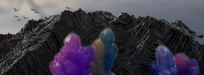 Landscape with Crystals