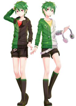 MMD Commission | Genshine Kyuu and Roku YoiStyle
