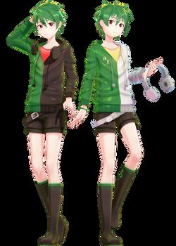MMD Commission | Genshine Kyuu and Roku YoiStyle