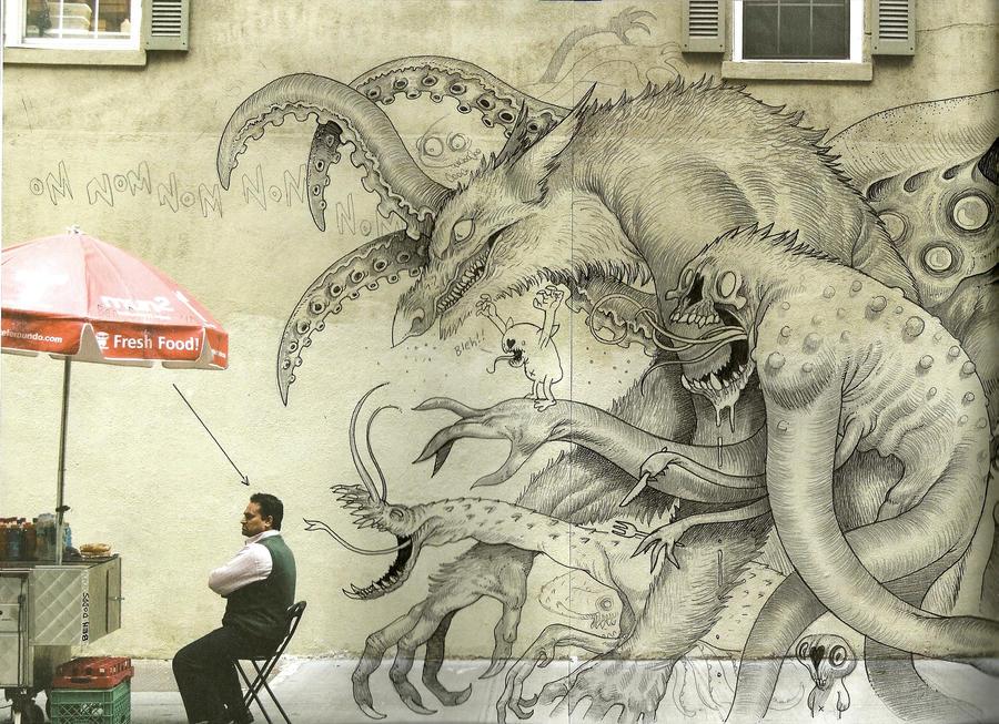 Monster Graffiti by Sch1itzie