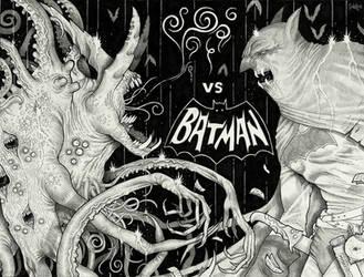 The Nameless Horror vs Batman by Sch1itzie