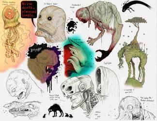 Doodle color practice WIP by Sch1itzie