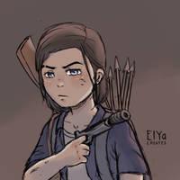 Ellie Sketch || The Last of Us II by Violeaf-MnF