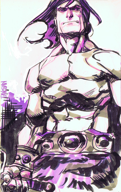 Conan Quick Sketch by urban-barbarian