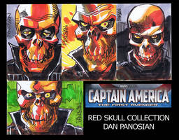RED SKULL sketch cards