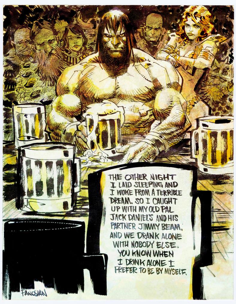 I Drink Alone by urban-barbarian