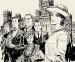 Downton Abbey Ink Sketch