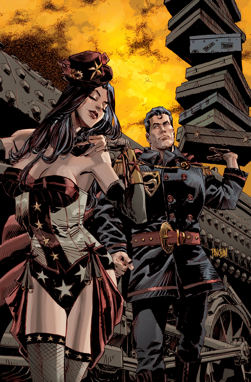 Superman Wonder Woman Steampunk by urban-barbarian