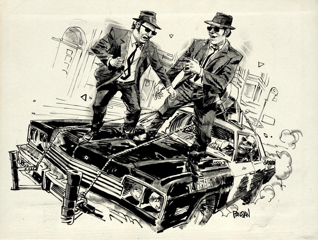 Ilustraciones sueltas chulas encontradas por el internete - Página 3 Blues_brothers__by_urban_barbarian-d8pnncp