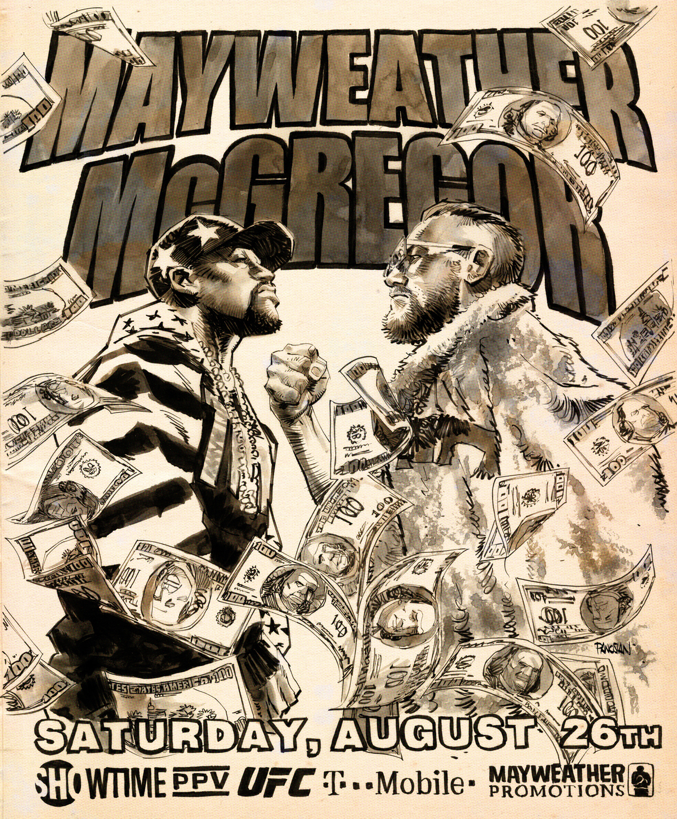 Mayweather VS McGregor by urban-barbarian