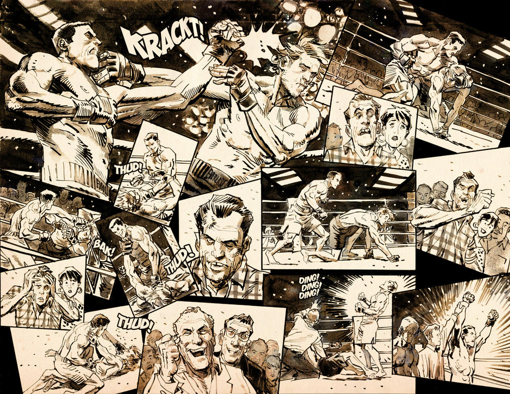 Double Page Spread from SLOTS #4 by urban-barbarian