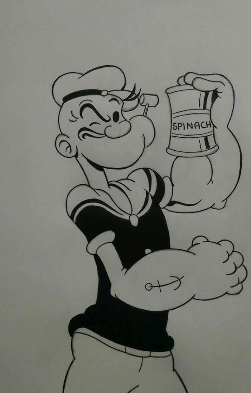 Popeye sketch by Barfly1986