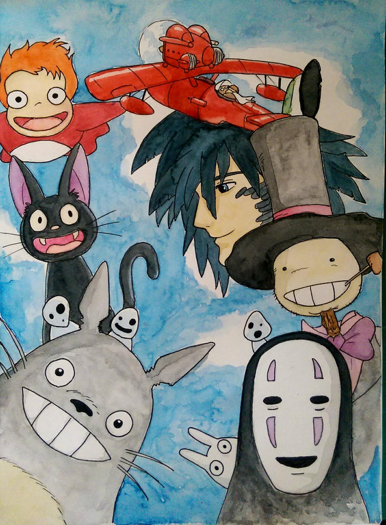 ghibli painting by Barfly1986