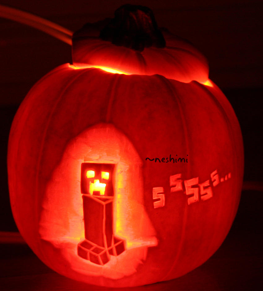 creeper pumpkin by neshimi on deviantart