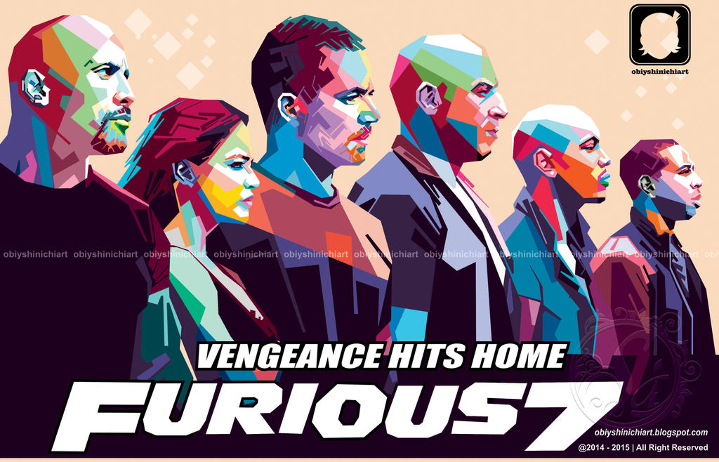 furious 7 in wpap by obiy shinichiArt by obiyshinichiart on DeviantArt
