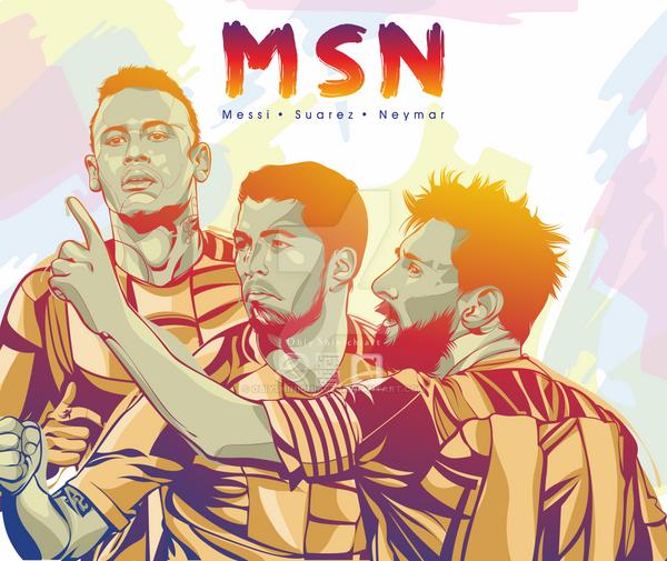 Trio MSN Messi Suarez Neymar Wallpaper By Osa Obiyshinichiart