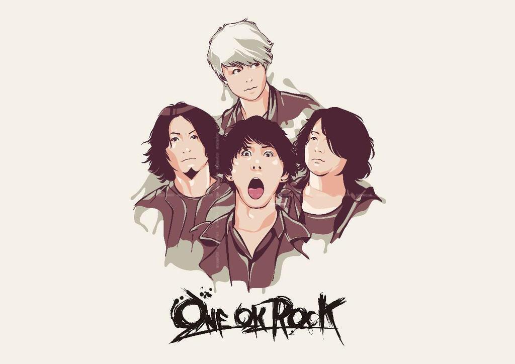 ONE OKE ROCK in Animation Style by obiyshinichiart