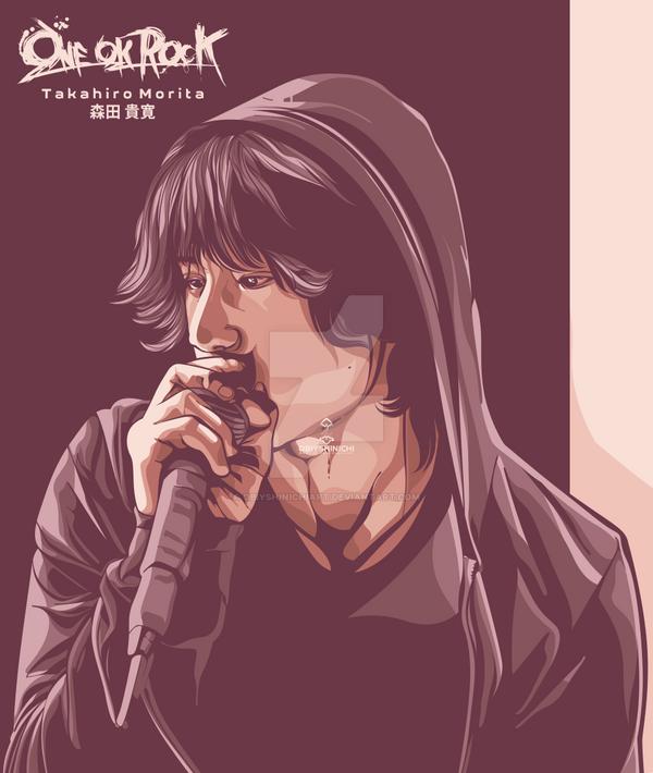 Takahiro Morita - ONE OK ROCK in Vector by obiyshinichiart