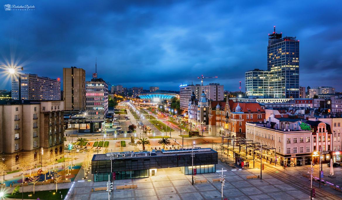 Katowice Skyline by Dybcio