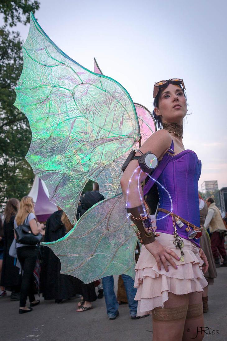 Steampunk fairy on Castlefest by Firefly182