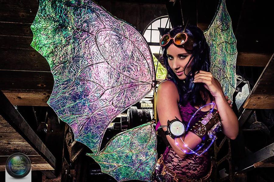 Steampunk fairy @ steam station by Firefly182