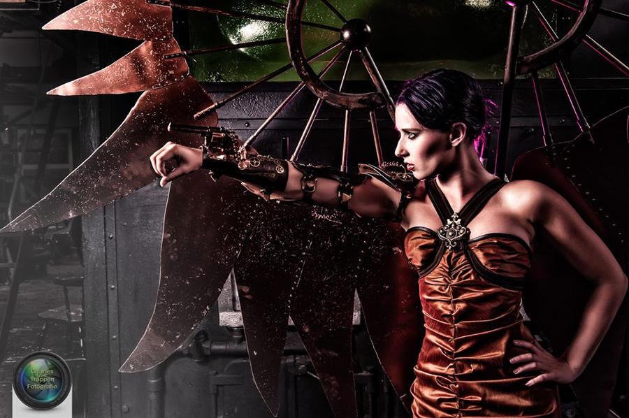 Steampunk archangel @ steam station by Firefly182