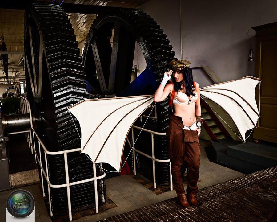 Da Vinci Aviator - steampunk by Firefly182