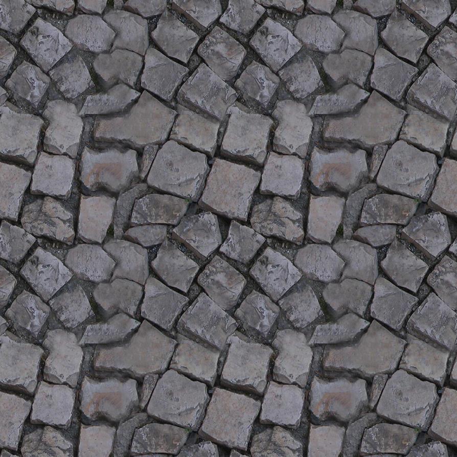 Cobblestone Texture Tiled 2x2 by KuroyumeGD. Cobblestone Texture Seamless