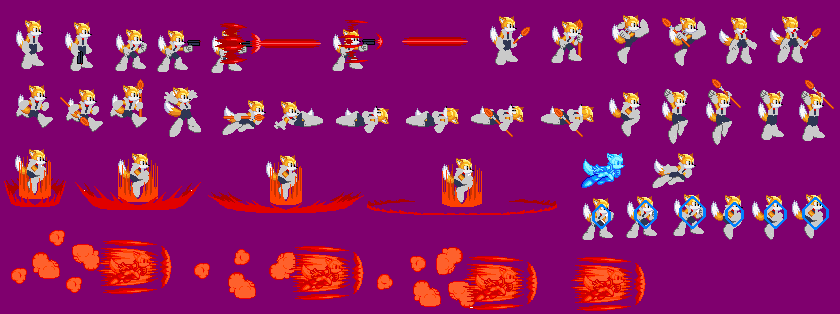 Cool Blue Sprite Sheet by tAll3Shyguy