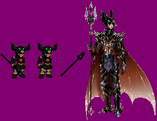 Argorok The Black Dragon Knight Sprites by tAll3Shyguy