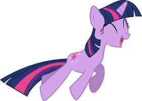 Twilight Happy Jump Vector by StarshineCelestalis